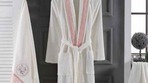 Velvet (velour) Cotton Bathrobe